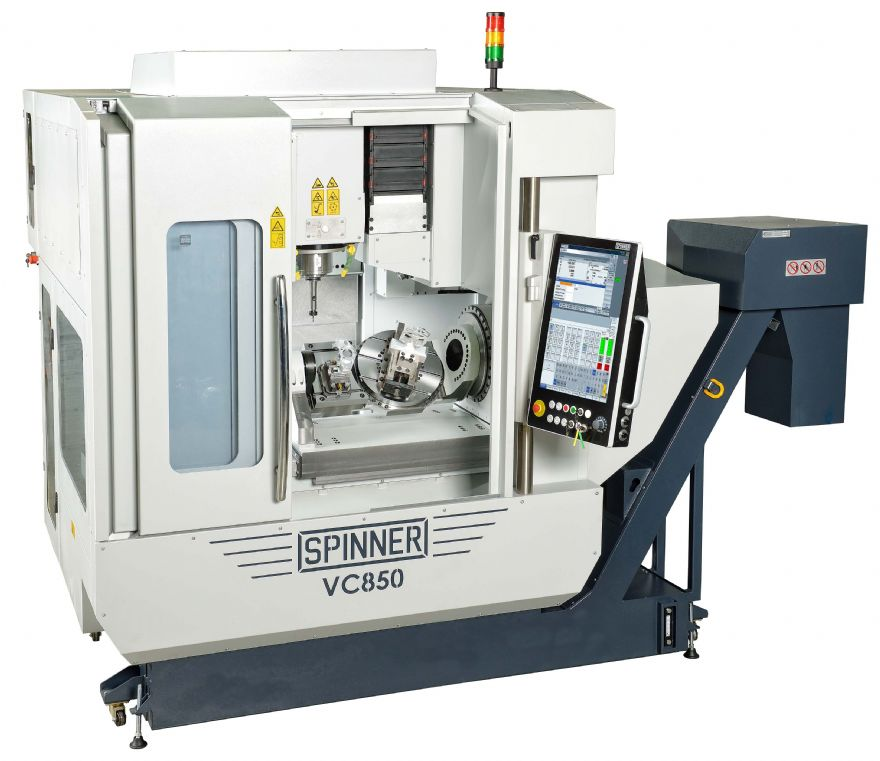 New five-axis machining centre from Spinner