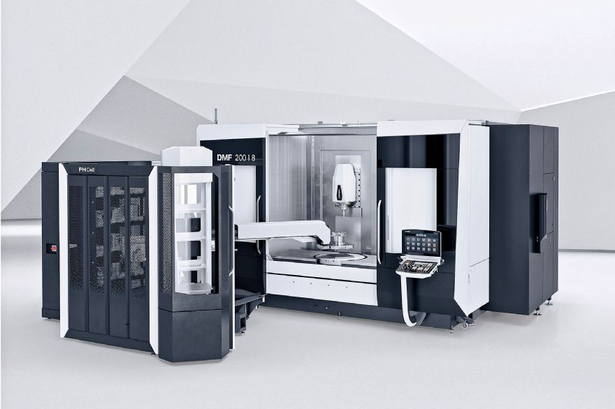 New five-axis travelling-column machining centre