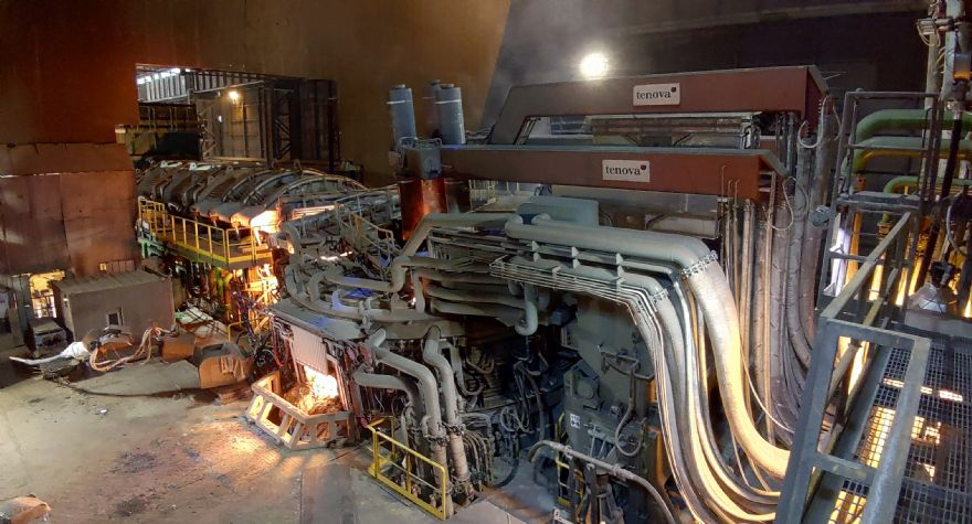 Record-breaking electric arc furnace fires up