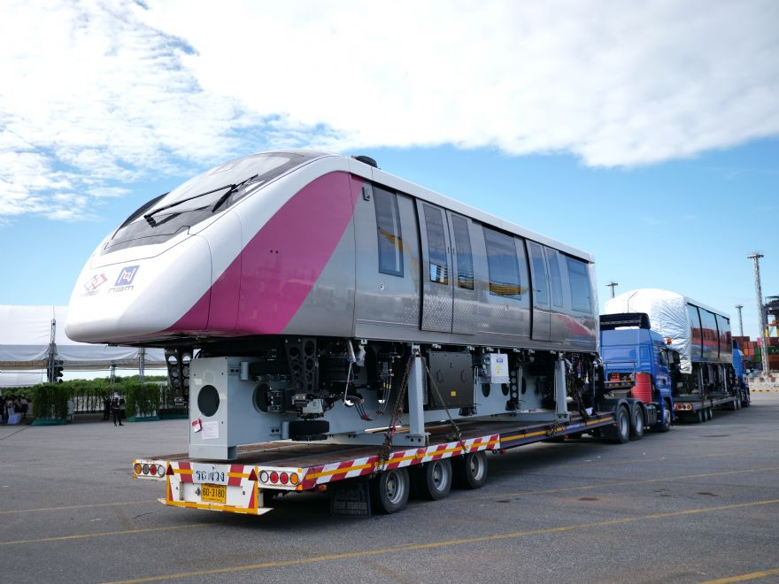 Bombardier delivers first monorails for Bangkok