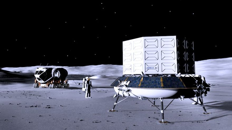 Airbus selected for ESA's Moon lander study