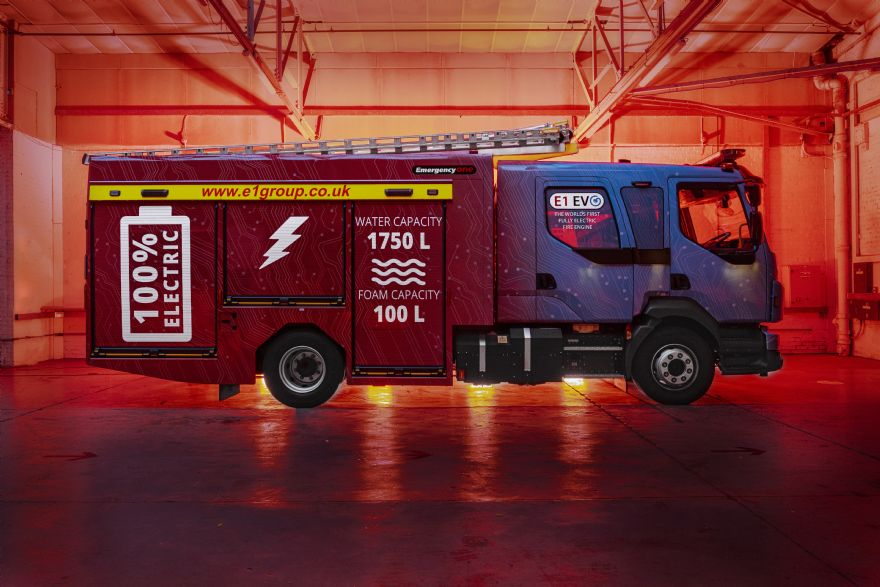 World's first electric fire engine unveiled