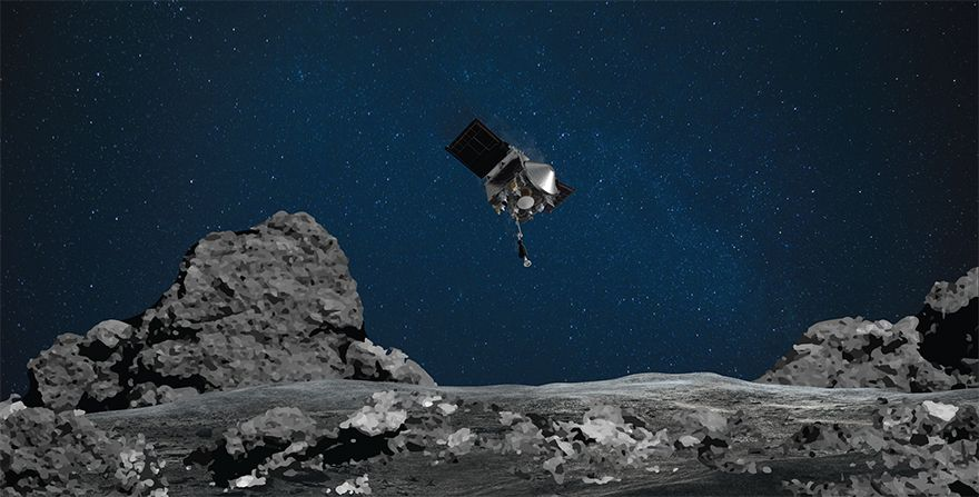 NASA's OSIRIS-REx spaceship 'touches' asteroid