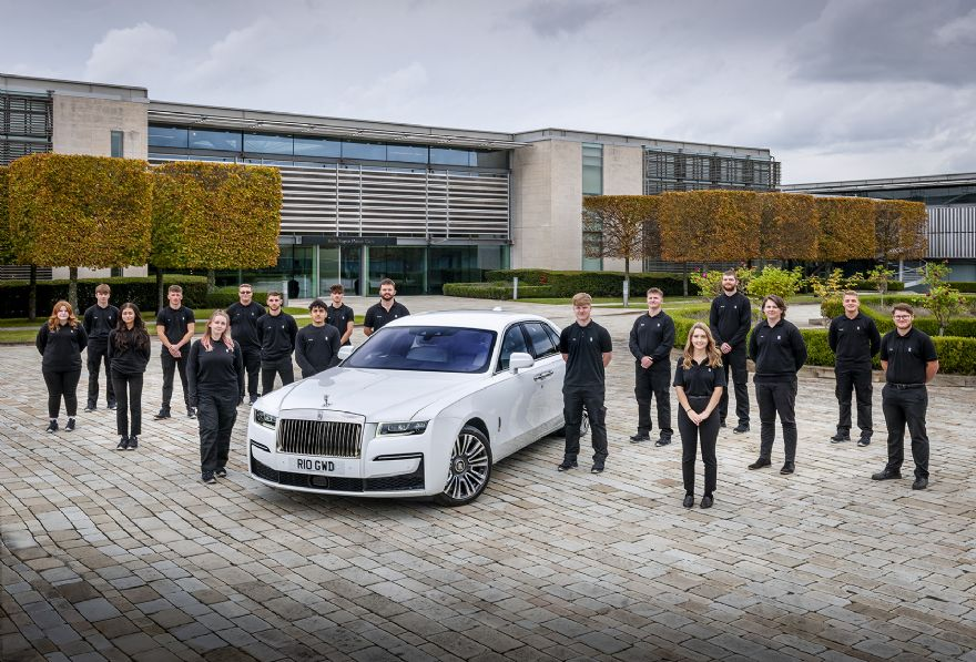 Rolls-Royce welcomes new apprentices to Goodwood