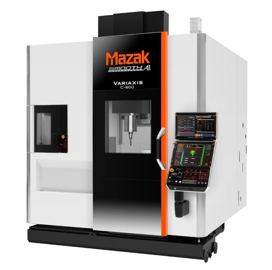Compact five-axis vertical machining centre