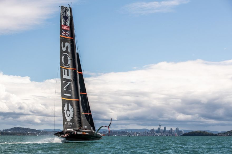First outing for INEOS Team UK's racing boat