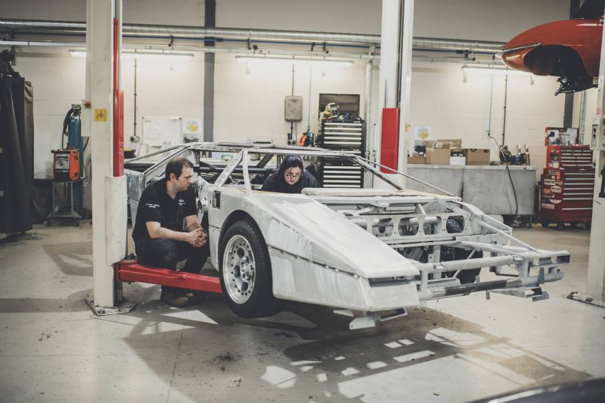 Iconic Aston Martin Bulldog halfway through its restoration