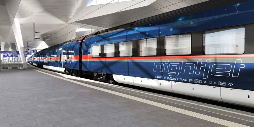 OBB and Siemens Mobility present exterior design of the new Nightjet