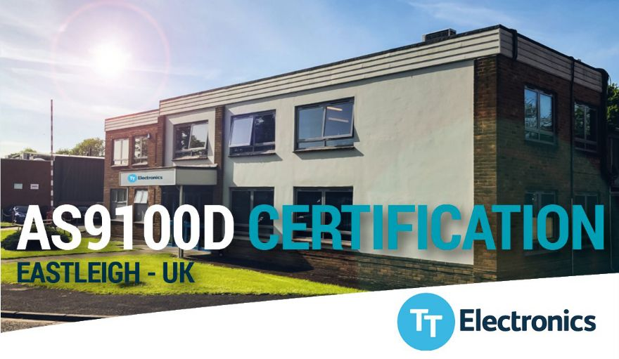 TT Electronics UK facility achieves AS9100D certification